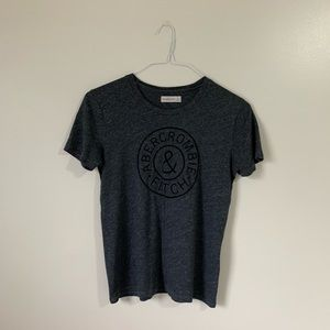 Basic Dark Grey Abercrombie Graphic Tee